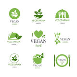 Emblemas do alimento Fotos de Stock