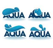 Emblemas do Aqua Imagens de Stock Royalty Free
