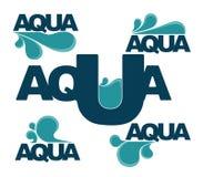 Emblemas do Aqua Foto de Stock Royalty Free