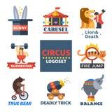 Emblemas do circo Fotografia de Stock Royalty Free