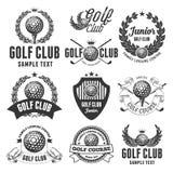 Emblemas do clube de golfe ilustração royalty free