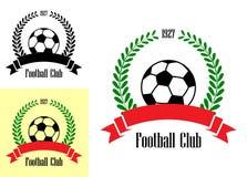 Emblemas do clube do futebol Fotografia de Stock
