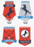 Emblemas do clube do polo Fotos de Stock