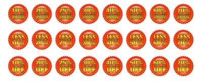 Emblemas do disconto ilustração royalty free