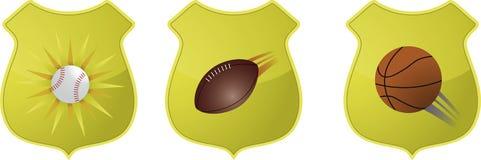 Emblemas do esporte dos E.U. Imagens de Stock Royalty Free
