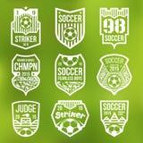 Emblemas do futebol Fotografia de Stock Royalty Free