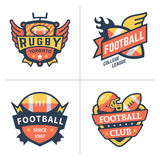 Emblemas do futebol e do rugby Foto de Stock Royalty Free