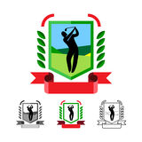 Emblemas do golfe ajustados ilustração royalty free