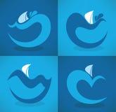 Emblemas do mar Fotografia de Stock
