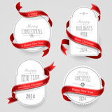 Emblemas do Natal Fotos de Stock Royalty Free