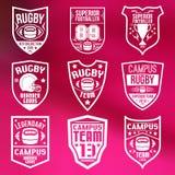 Emblemas do rugby Fotografia de Stock