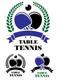 Emblemas do tênis de mesa ajustados Fotografia de Stock Royalty Free