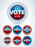 Emblemas do voto Fotos de Stock