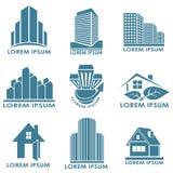 Emblemas dos bens imobiliários Imagem de Stock