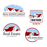 Emblemas dos bens imobiliários Fotografia de Stock