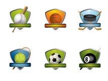 Emblemas e ícones do esporte Imagem de Stock