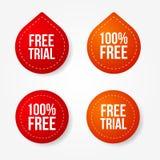 Emblemas e etiquetas da experimentação livre ilustração royalty free