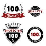 Emblemas e etiquetas da qualidade Fotografia de Stock