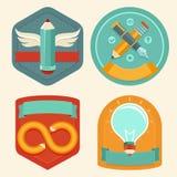 Emblemas e iconos del diseño gráfico de vector Imágenes de archivo libres de regalías