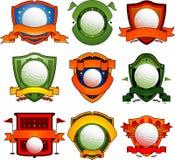 Emblemas e insignias del golf Fotografía de archivo libre de regalías