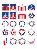 Emblemas e logotypes patrióticos ilustração do vetor