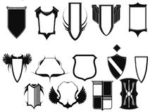 Emblemas e protetor da coleção do vetor fotografia de stock