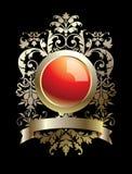 Emblemas e quadro Foto de Stock Royalty Free