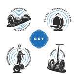 Emblemas eléctricos de la vespa Fotos de archivo libres de regalías