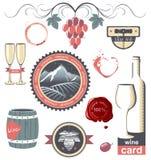 Emblemas del vino Fotos de archivo libres de regalías