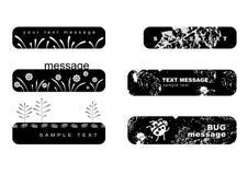 Emblemas florais Fotos de Stock