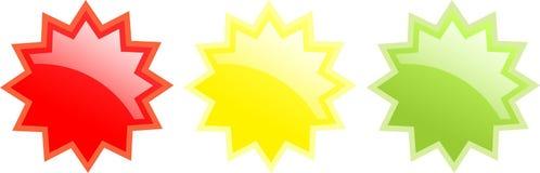 Emblemas lustrosos Fotografia de Stock