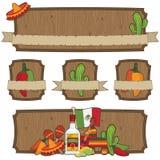 Emblemas mexicanos Imagens de Stock Royalty Free