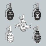 Emblemas militares ilustración del vector