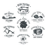 Emblemas militares no estilo retro Fotografia de Stock
