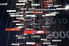 Emblemas modelo de BMW Foto de Stock