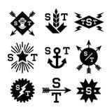 Emblemas monocromáticos Imágenes de archivo libres de regalías