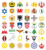 Emblemas nacionais Imagem de Stock Royalty Free