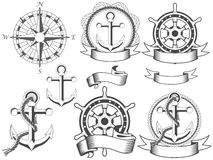 Emblemas náuticos Fotografia de Stock Royalty Free