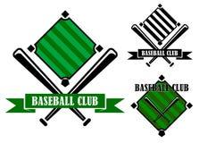 Emblemas o insignias del club de béisbol Imágenes de archivo libres de regalías