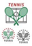 Emblemas o insignias grandes del tenis Foto de archivo libre de regalías