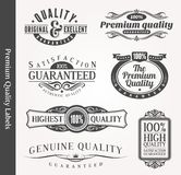 Emblemas ornamentales decorativos de la calidad Fotografía de archivo libre de regalías