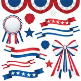 Emblemas patrióticos Foto de Stock