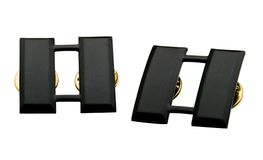 Emblemas pretos Fotos de Stock Royalty Free