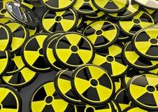Emblemas radioativos Imagens de Stock Royalty Free