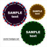 Emblemas redondos da estrela Imagem de Stock Royalty Free