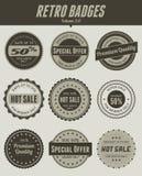 Emblemas retros Imagens de Stock Royalty Free
