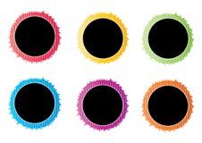 Emblemas retros Fotografia de Stock