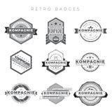 Emblemas retros Foto de Stock