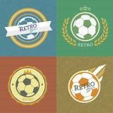 Emblemas retros del fútbol Foto de archivo