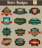 Emblemas retros do vintage Fotografia de Stock Royalty Free